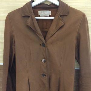 Marni Calf's leather blazer jacket small